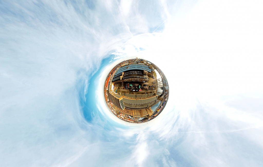 360 Grad Luftbildpanorama Oberschöneweide Elektropolis Berlin